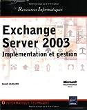 couverture du livre Exchange Serveur 2003
