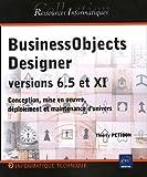couverture du livre BusinessObjects Designer versions 6.5 et XI