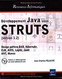 couverture du livre Développement Java sous STRUTS : Version 1.2