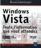 couverture du livre Windows Vista : toute l'information que vous attendez