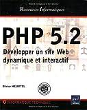 couverture du livre PHP 5.2, Développez un site Web dynamique et intéractif