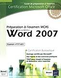 couverture du livre Préparation à l'examen MCAS Word 2007