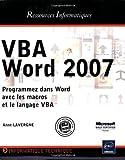 couverture du livre VBA Word 2007
