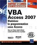 couverture du livre VBA Access 2007