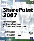 couverture du livre SharePoint 2007 - Personnalisation, développement et déploiement