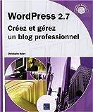 couverture du livre WordPress 2.7 - Créez et gérez un blog professionnel