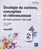 couverture du livre Stratégie de contenu, conception et référencement de votre premier site web