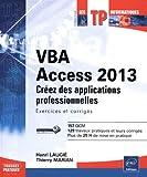 couverture du livre VBA Access 2013 - Créez des applications professionnelles