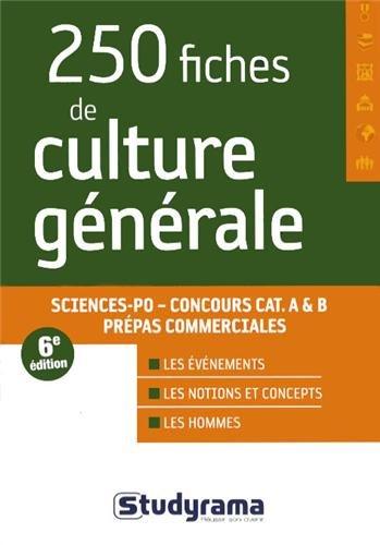 8a9bed3f32a 250 fiches de culture générale   Sciences Po