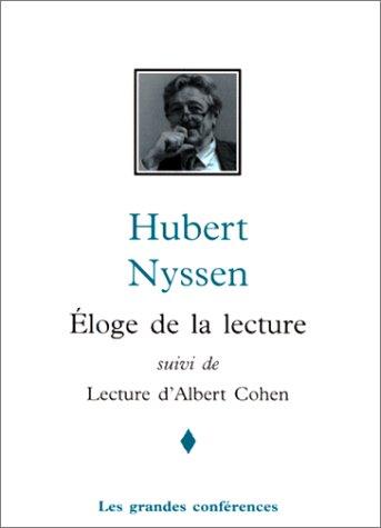 Eloge de la lecture | Lecture d'Albert Cohen