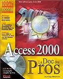 couverture du livre Access 2000 La Doc des Pros