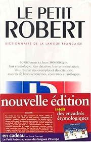 Le Nouveau Petit Robert: Dictionnaire De La…