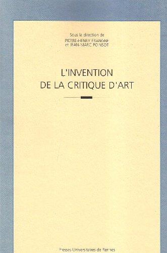 L'invention de la critique d'art