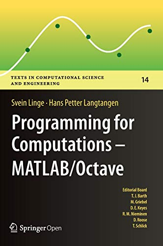 PDF] Programming for Computations - MATLAB/Octave: A Gentle