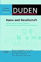 Duden Thema Deutsch, Bd.2, Name und…