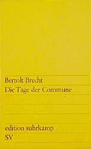 Die Tage der Commune av Bertolt Brecht