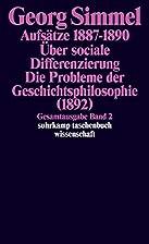 Gesamtausgabe 02. Aufsätze 1887 - 1890.…