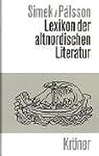 Lexikon der altnordischen Literatur by…