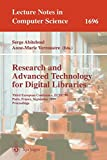 Research and Advanced Technology for Digital Libraries : Third European Conference, ECDL'99, Paris, France, September 22-24, 1999 : Proceedings / Serge Abiteboul, Anne-Marie Vercoustre (Eds.)