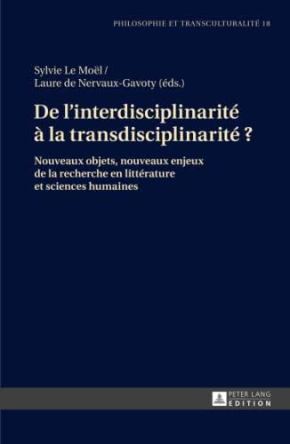 De l'interdisciplinarité à la transdisciplinarité