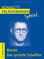 Erläuterungen zu Bertolt Brecht, Das…