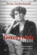 Österreich intim ; Erinnerungen 1892-1942…