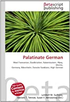 Palatinate German by Lambert M. Surhone