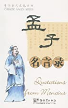 Quotations From Mencius (Chinese Sages…