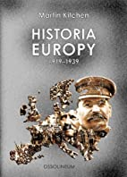 Historia Europy 1919-1939 by Martin Kitchen