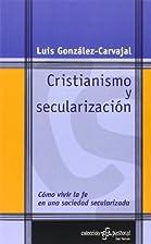 Cristianismo y secularización cómo vivir…