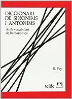 Diccionari de sinònims i antònims by…