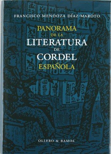 Panorama de la literatura de cordel española