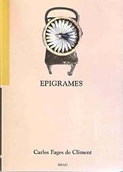 Epigrames af Carles Fages de Climent