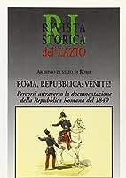 Roma, Repubblica: venite!: percorsi…