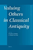 Valuing others in classical antiquity by…