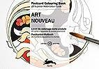 Art Nouveau : POSTCARD COLOURING BOOK by…