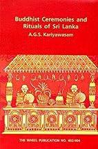 Buddhist Ceremonies and Rituals of Sri Lanka…