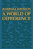 A world of difference / Barbara Johnson