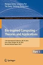 Bio-inspired Computing - Theories and…
