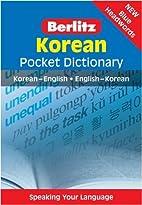 Berlitz Pocket Dictionary Korean by Inc.…