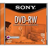 Sony 1-pack DVD-RW 4.7GB Rewriteable Single-sided DVD Disc