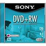 Sony DVD+RW 4.7GB Rewriteable Single-sided DVD Disc, 1-pack