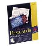 Avery(R) Color Laser Postcards, 4in. x 6in., White, Box Of 80