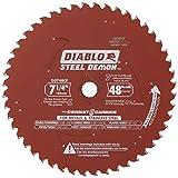 "Diablo D0748F 7-1/4"" x 48-Tooth Steel Demon TCG Ferrous Metal Cutting Blade"