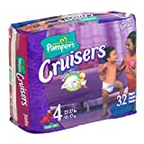 Pampers Cruisers, Size 4, Jumbo Pack, 32 Count