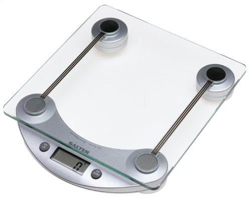 Salter 1001 11-Pound Square Glass Kitchen Scale, Silver ...