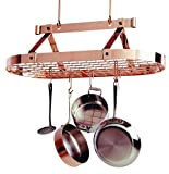 3 Foot Oval With Grid , Premier Ceiling Rack - Copper