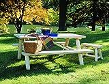 Rustic Natural Cedar Picnic Table Set
