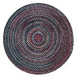 Chestnut Knoll Baltic Blue Round Braided Rug - 10'