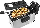 Elite Gourmet 3.5 Quart Brushed Stainless Steel Immersion Deep Fryer – EDF3500